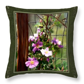 Throw Pillow featuring the digital art Growing Wild by Susan Kinney