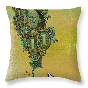 Growing Your Money Throw Pillow
