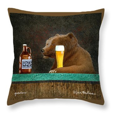 Growlers Throw Pillow by Will Bullas