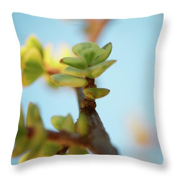 Growth Throw Pillow by Ana V Ramirez