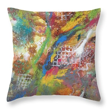 Growth Throw Pillow by Becky Chappell
