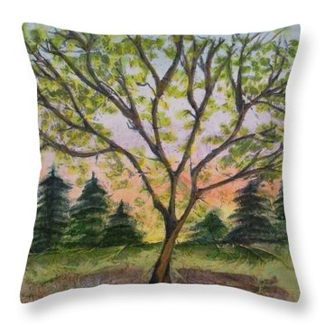 Growth Throw Pillow by CB Woodling