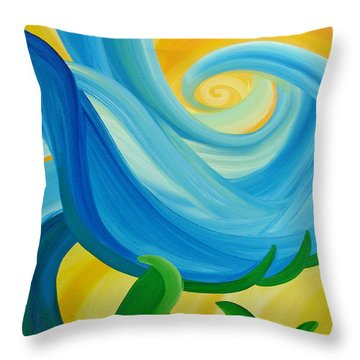Growth Throw Pillow by Ginny Gaura