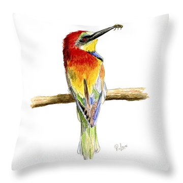 Gruccione  - Bee Eater - Merops Apiaster Throw Pillow