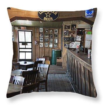 Gruene Hall Bar Throw Pillow
