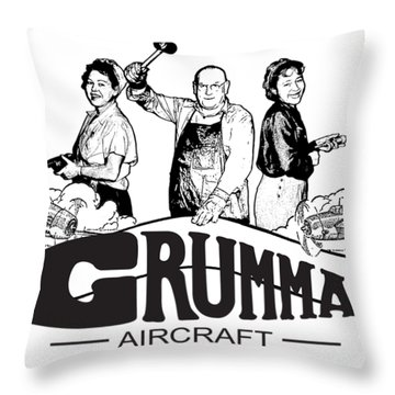 Grumman Aircraft Est 1929 Throw Pillow