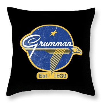 Grumman Est 1929 Distressed Throw Pillow