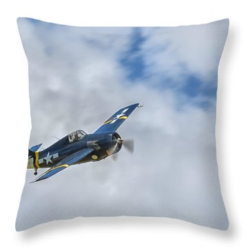 Grumman F4f Wildcat Throw Pillow