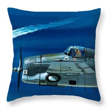 Grumman F4rf-3 Wildcat Throw Pillow