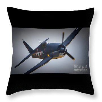 Grumman F6f Hellcat K-29 Throw Pillow