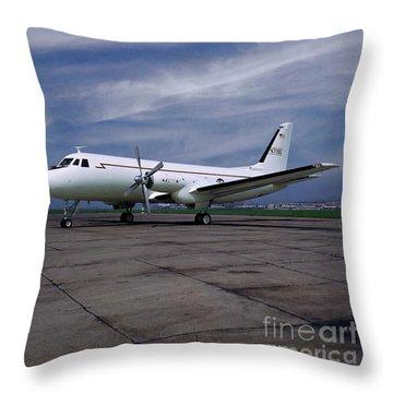 Grumman G-159 Gulfstream Patiently Waits, N719g Throw Pillow