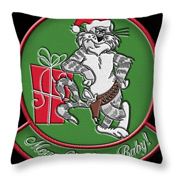 Grumman Merry Christmas Throw Pillow