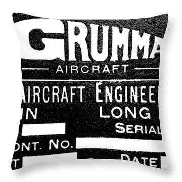 Grumman Product Plate Throw Pillow