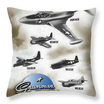 Grumman Ready When Needed Throw Pillow