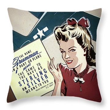 Grumman Sterling Poster Throw Pillow