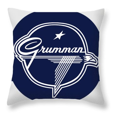 Grumman Stripes Throw Pillow