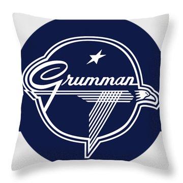 Grumman Stripes Throw Pillow