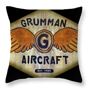 Grumman Wings Diamond Throw Pillow