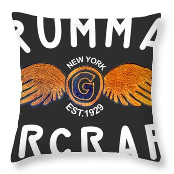 Grumman Wings Gold Throw Pillow