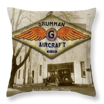 Grumman Wings Throw Pillow