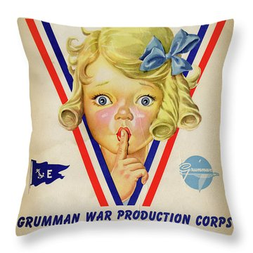 Grumman Worker Sleeping Poster Throw Pillow