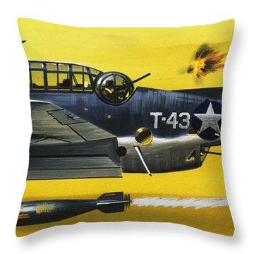 Grummen Tbf1 Avenger Bomber Throw Pillow