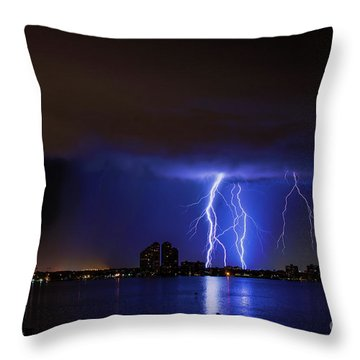 North Star Yacht Club Nights Throw Pillow