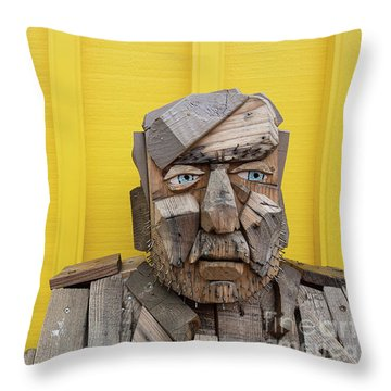 Throw Pillow featuring the photograph Grumpy Old Man by Edward Fielding