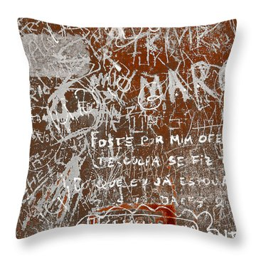 Grunge Background Throw Pillow by Carlos Caetano