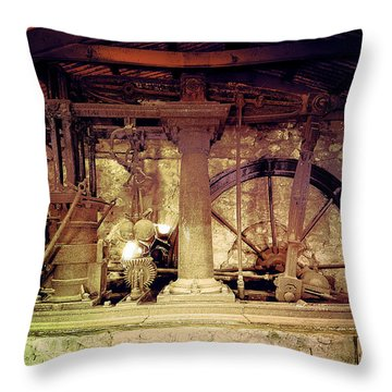 Throw Pillow featuring the photograph Grunge Cane Mill by Robert G Kernodle