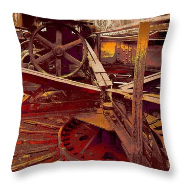 Throw Pillow featuring the photograph Grunge Gears by Robert Kernodle