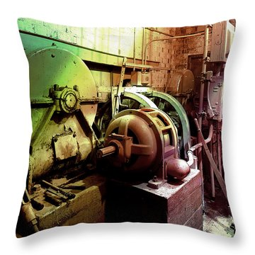 Grunge Hydroelectric Plant Throw Pillow