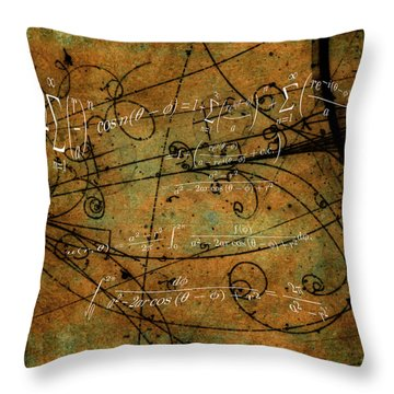 Throw Pillow featuring the photograph Grunge Math Equations by Robert G Kernodle
