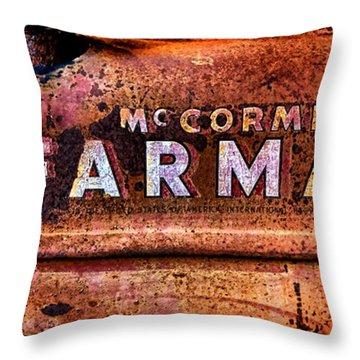 Grunge Mccormick Farmall  Throw Pillow