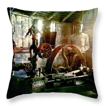 Grunge Meyer Mill Throw Pillow
