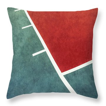 Throw Pillow featuring the photograph Grunge On The Basketball Court by Gary Slawsky