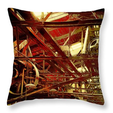 Grunge Power System Throw Pillow