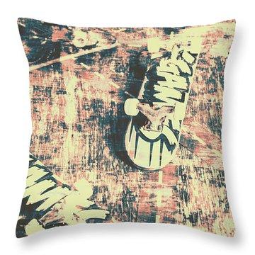 Grunge Skateboard Poster Art Throw Pillow