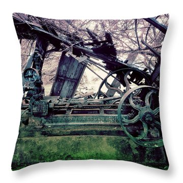 Grunge Steam Engine Throw Pillow