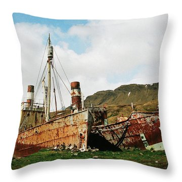 Grytviken Ghosts Throw Pillow