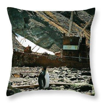 Grytviken Sentinel Throw Pillow