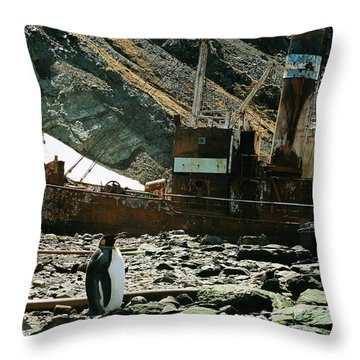 Grytviken Sentinel Throw Pillow