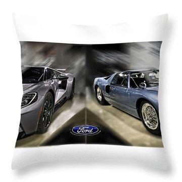 Gt40 Evolution Throw Pillow