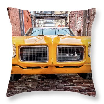 Gto - Pontiac Muscle Throw Pillow