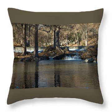 Throw Pillow featuring the photograph Guadalupe Overflows by Karen Musick