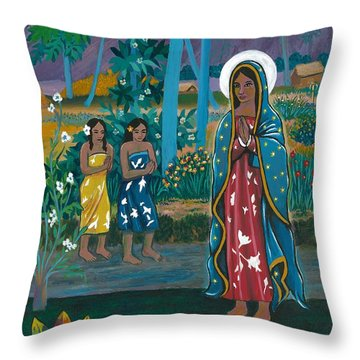 Guadalupe Visits Gauguin Throw Pillow
