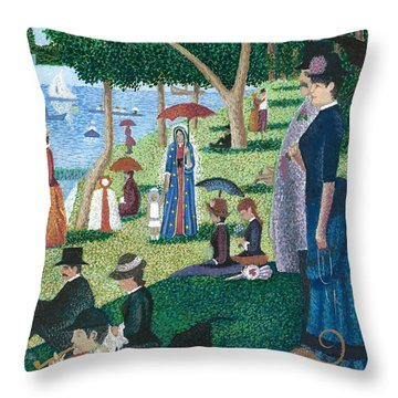 Guadalupe Visits Seuart Throw Pillow