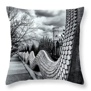 Guading The Castle Throw Pillow