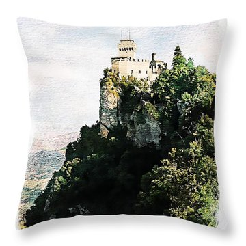 Guaita Castle Fortress Throw Pillow