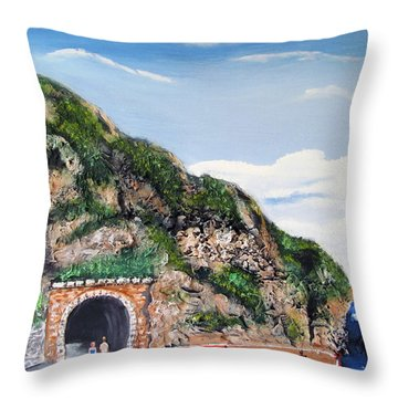 Guajataca Tunnel Throw Pillow